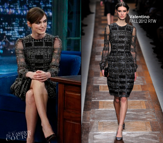 Keira Knightley in Valentino | 'Late Night with Jimmy Fallon'