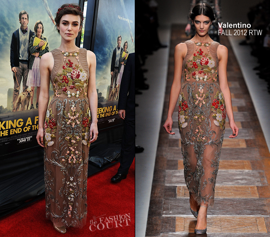 Keira Knightley in Valentino | 'Seeking a Friend for the End of the World' 2012 LA Film Festival Premiere