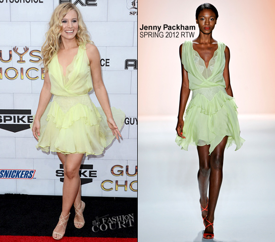 Kristen Bell in Jenny Packham | Spike TV's Guys Choice Awards 2012