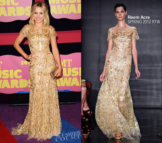 Kristen Bell in Reem Acra | 2012 CMT Music Awards
