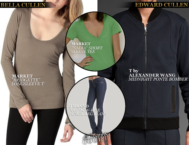 Kristen Stewart in Market & Robert Pattinson in T by Alexander Wang | 'The Twilight Saga: Breaking Dawn - Part 2'