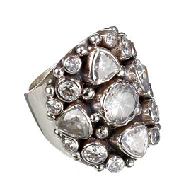 KumKum Wishlist Collection Sterling Silver Zircon Ring