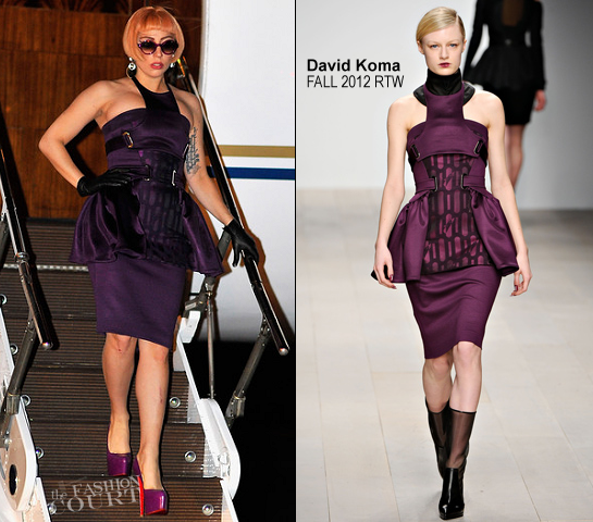 Lady Gaga in David Koma | Arriving in Brisbane