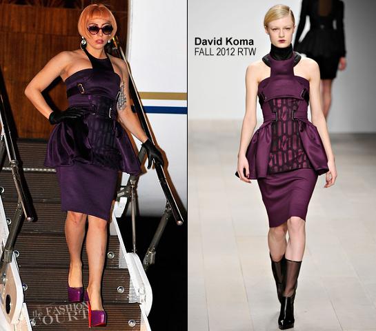 Lady Gaga in David Koma | Arriving in Brisbane