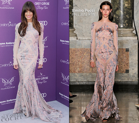 Lea Michele in Emilio Pucci | Chrysalis Butterfly Ball 2012