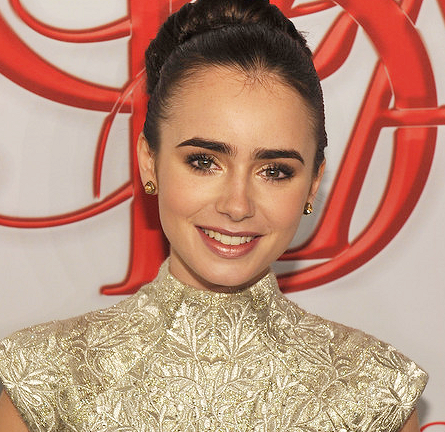Lily Collins in Marchesa | 2012 CFDA Fashion Awards