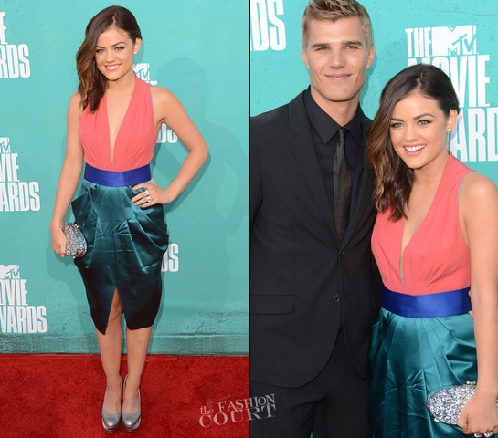 Lucy Hale in Catherine Malandrino | 2012 MTV Movie Awards