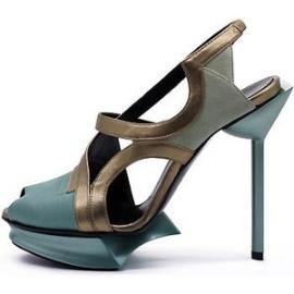Maison des Talson Spring 2012 Slingback Metallic Aqua Sandals