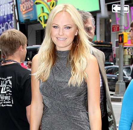 Malin Akerman in T by Alexander Wang | Promoting 'Rock of Ages' at MTV