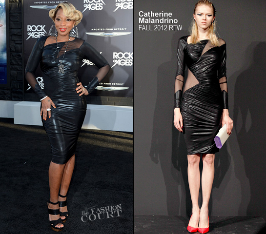 Mary J. Blige in Catherine Malandrino | 'Rock of Ages' LA Premiere