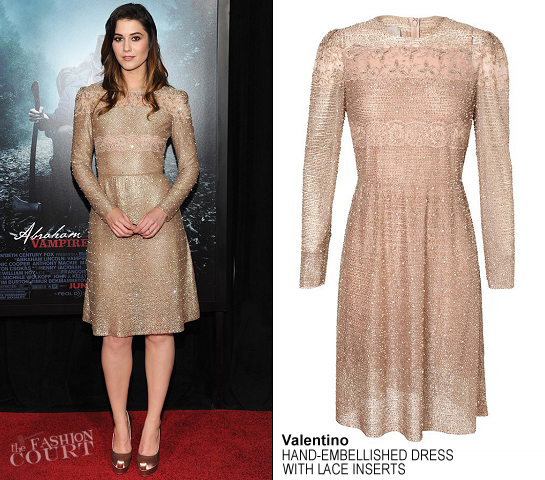Mary Elizabeth Winstead in Valentino | 'Abraham Lincoln: Vampire Hunter' NY Premiere