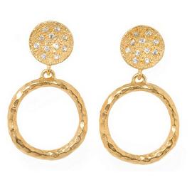 Melinda Maria Ashley Tiny Doorknocker Earrings