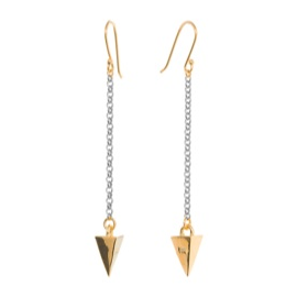 Melinda Maria Pyramid Chain Earrings