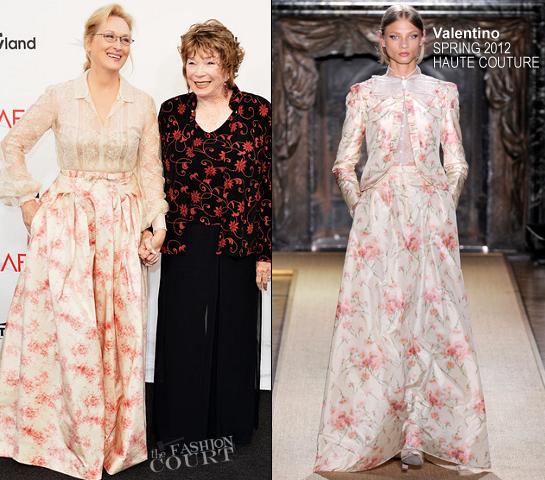 Meryl Streep in Valentino Couture | 40th AFI Life Achievement Award Honoring Shirley MacLaine