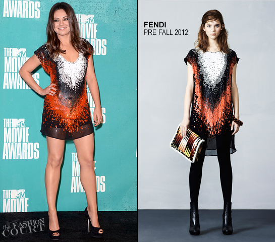 Mila Kunis in Fendi | 2012 MTV Movie Awards
