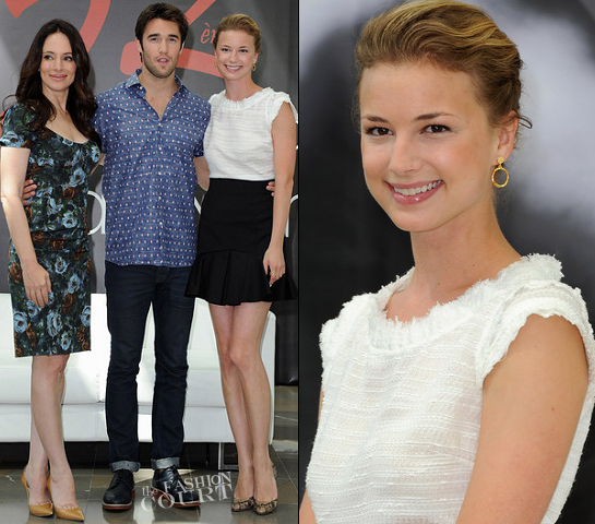 Emily VanCamp in Monique Lhuillier and Madeleine Stowe in Dolce & Gabbana | Monte Carlo TV Festival 2012
