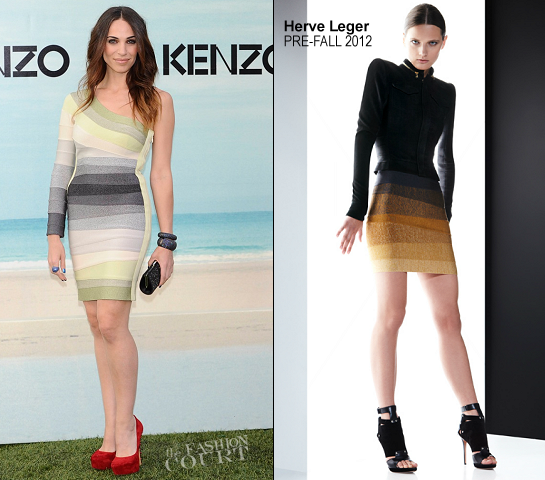 Nerea Garmendia in Herve Leger | KENZO Madrid Fashion Event