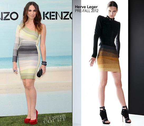 Nerea Garmendia in Herve Leger   KENZO Madrid Fashion Event