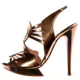 Nicholas Kirkwood Spring 2009 Metallic Slingback Sandals