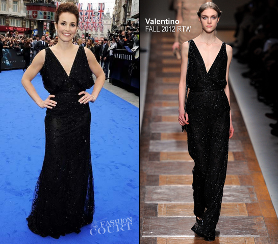 Noomi Rapace in Valentino | 'Prometheus' London Premiere