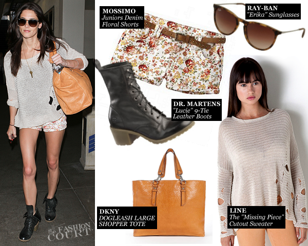 Ashley Greene in Line & Mossimo | LAX Airport