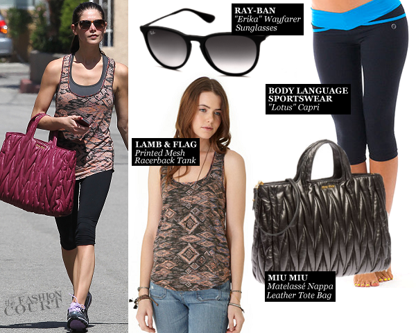 Ashley Greene Hits the Gym in Lamb and Flag & Body Language!