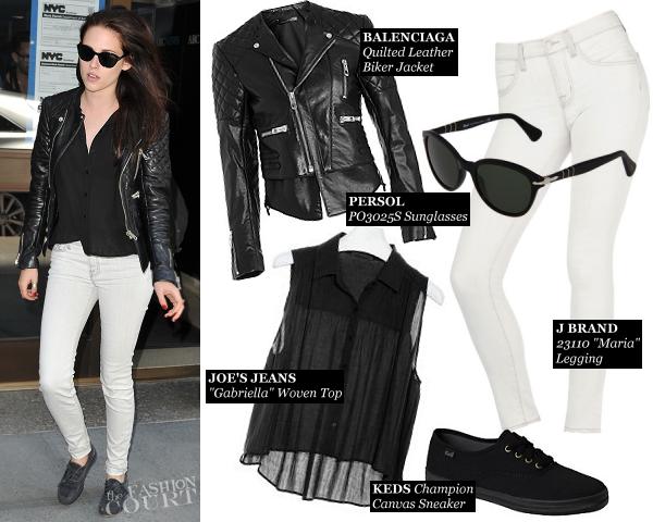 Kristen Stewart's Monochrome Moment in New York