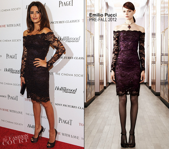 Penelope Cruz in Emilio Pucci | 'To Rome With Love' NY Screening