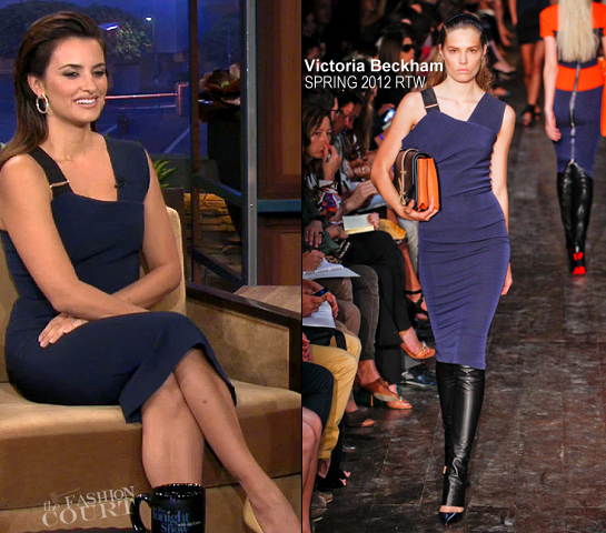 Penelope Cruz in Victoria Beckham | 'The Tonight Show with Jay Leno'