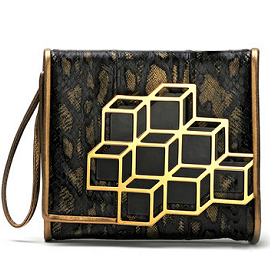 Pierre Hardy Fall 2012 Graphic Cube Calf Hair Wristlet