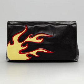 Prada Flame Flap Clutch - Spring 2012