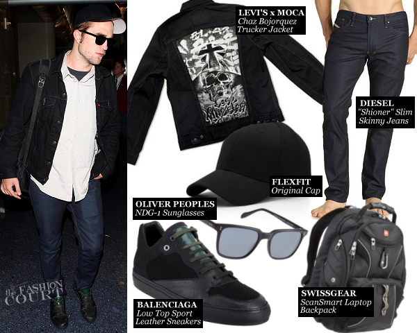 Robert Pattinson Jet Sets in Diesel and Limited Edition LEVI's Denim!