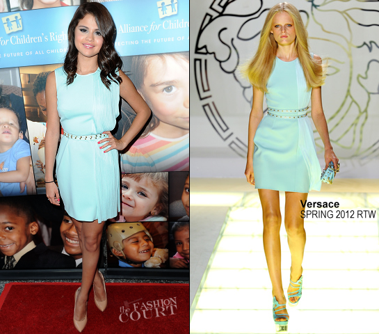 Selena Gomez in Versace | Alliance For Children's Rights Celebrity Right To Laugh Event 2012