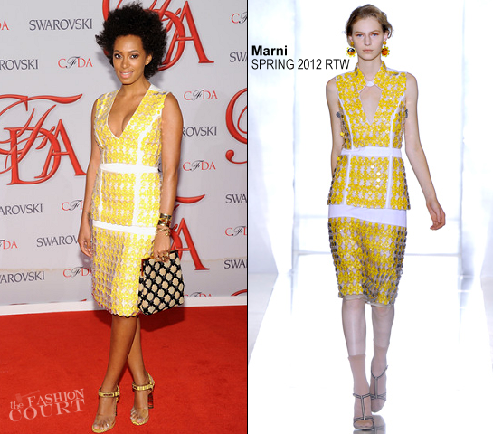 Solange Knowles in Marni | 2012 CFDA Fashion Awards