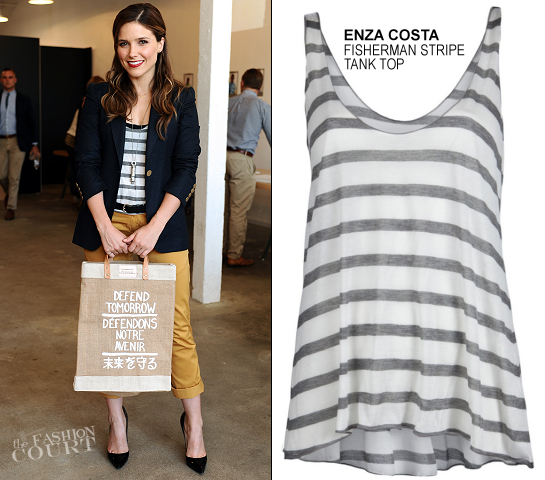 Sophia Bush in Apolis, Stella McCartney & Enza Costa | Apolis Defend Tomorrow Campaign Launch