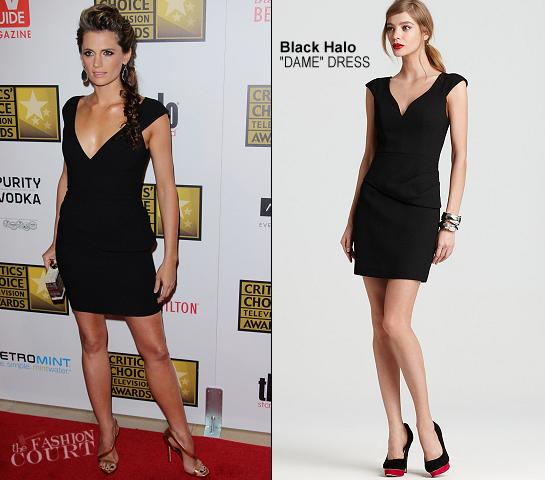 Stana Katic in Black Halo   2012 Critics' Choice Television Awards