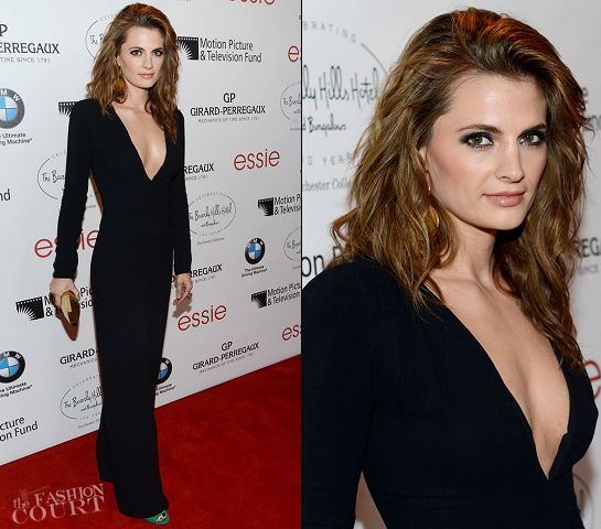 Stana Katic in Stella McCartney | Beverly Hills Hotel 100th Anniversary Celebration
