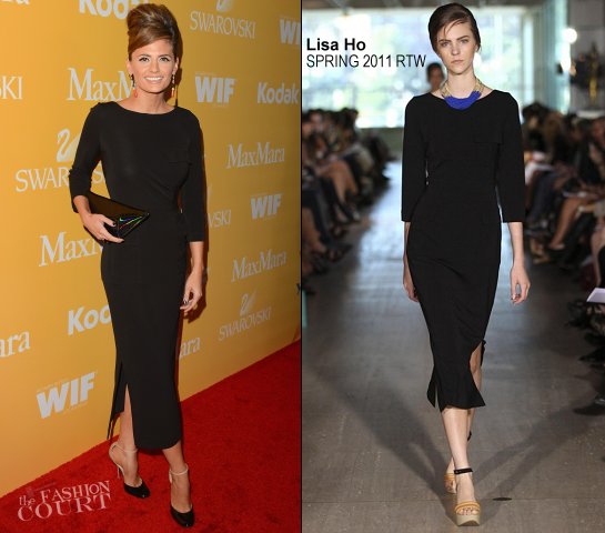 Stana Katic in Lisa Ho | Women In Film Crystal + Lucy Awards 2012