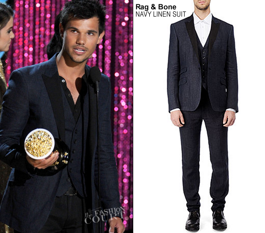 Taylor Lautner in Rag & Bone | 2012 MTV Movie Awards