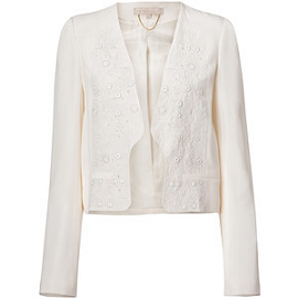 Vanessa Bruno Ivory Short Buttonless Jacket