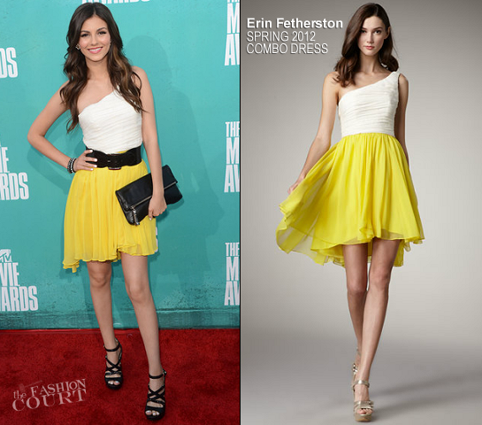 Victoria Justice in Erin Fetherston | 2012 MTV Movie Awards