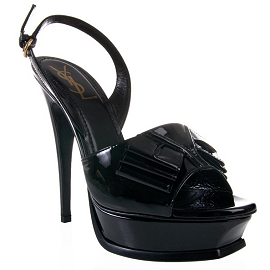 Yves Saint Laurent Y BOW Platform Slingback Sandals