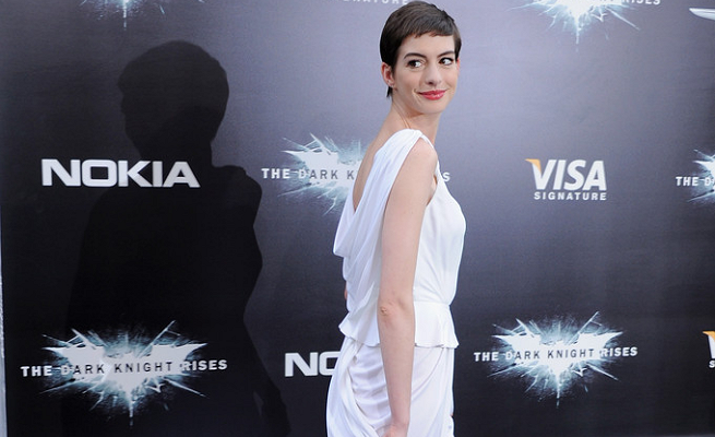 Anne Hathaway in Prabal Gurung | 'The Dark Knight Rises' NYC Premiere