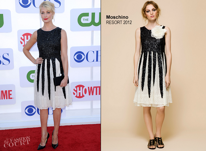 Beth Behrs in Moschino | CW, CBS & Showtime 2012 Summer TCA Party