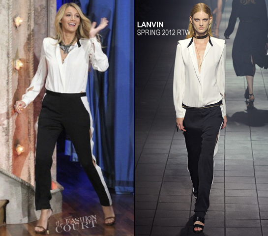 Blake Lively in Lanvin | 'Late Night with Jimmy Fallon'