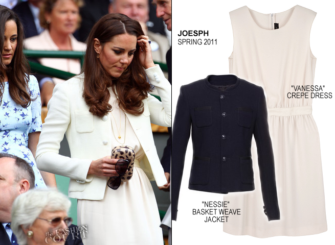 Catherine, Duchess of Cambridge in JOESPH & Pippa Middleton in Project D | Wimbledon 2012 Championships Men's Finals