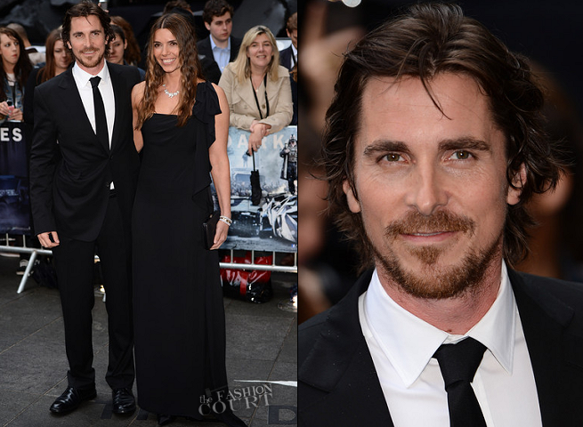 Christian Bale in Gucci in Gucci | 'The Dark Knight Rises' London Premiere
