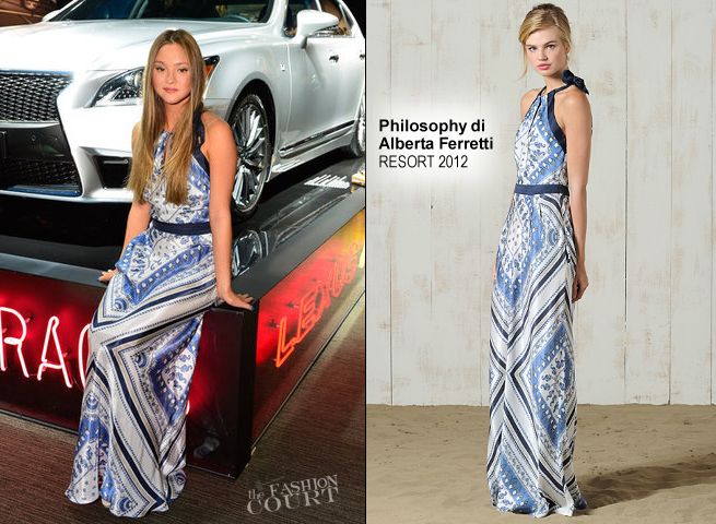 Devon Aoki in Philosophy di Alberta Ferretti | Lexus 'Laws of Attraction' Exhibit