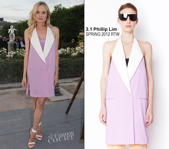 Diane Kruger in 3.1 Phillip Lim | Berluti Spring 2013 Fashion Show - Paris Fashion Week Menswear