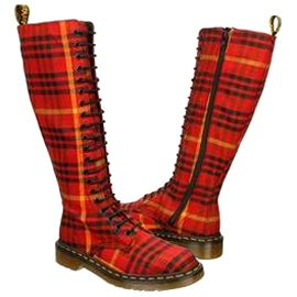 Dr. Martens SHEENA Plaid Boots